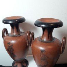 Antiquités: PAREJA JARRONES CERAMICA. Lote 176532080