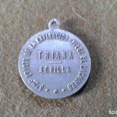 Antigüedades: SEMANA SANTA SEVILLA - MEDALLA CRISTO LA EXPIRACION - VULGO EL CACHORRO - ALUMINIO. Lote 176533802