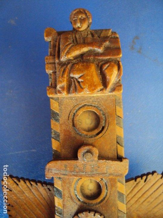 Antigüedades: (ANT-190956)CRUZ RELICARIO EN MADERA DE OLIVO - SIGLO XIX - Foto 2 - 176548735