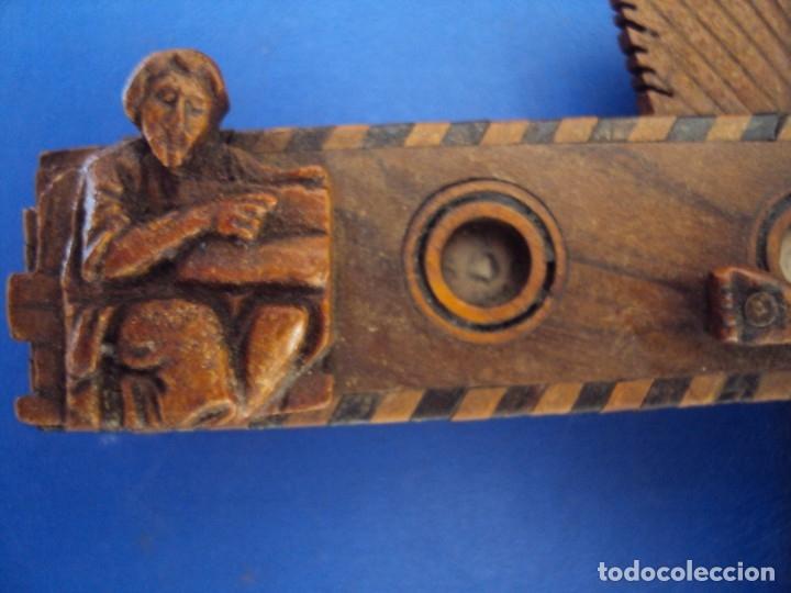 Antigüedades: (ANT-190956)CRUZ RELICARIO EN MADERA DE OLIVO - SIGLO XIX - Foto 5 - 176548735