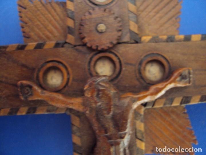 Antigüedades: (ANT-190956)CRUZ RELICARIO EN MADERA DE OLIVO - SIGLO XIX - Foto 6 - 176548735
