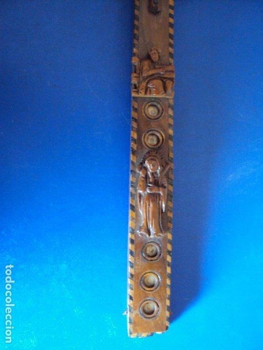 Antigüedades: (ANT-190956)CRUZ RELICARIO EN MADERA DE OLIVO - SIGLO XIX - Foto 8 - 176548735