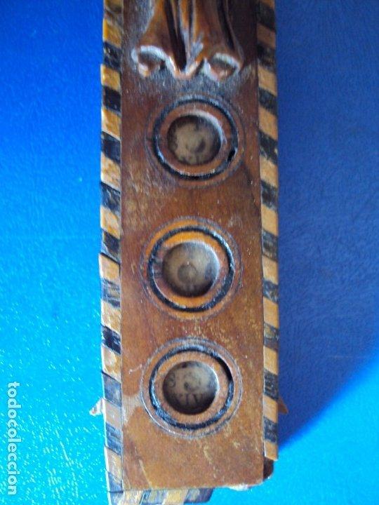Antigüedades: (ANT-190956)CRUZ RELICARIO EN MADERA DE OLIVO - SIGLO XIX - Foto 10 - 176548735