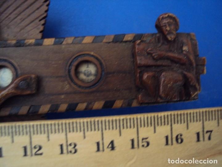 Antigüedades: (ANT-190956)CRUZ RELICARIO EN MADERA DE OLIVO - SIGLO XIX - Foto 15 - 176548735