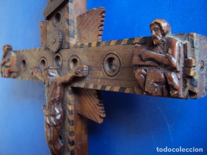 Antigüedades: (ANT-190956)CRUZ RELICARIO EN MADERA DE OLIVO - SIGLO XIX - Foto 18 - 176548735