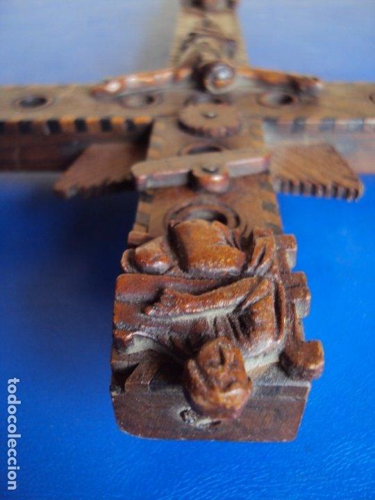 Antigüedades: (ANT-190956)CRUZ RELICARIO EN MADERA DE OLIVO - SIGLO XIX - Foto 19 - 176548735