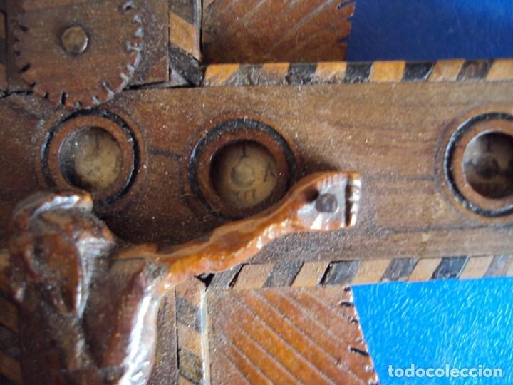 Antigüedades: (ANT-190956)CRUZ RELICARIO EN MADERA DE OLIVO - SIGLO XIX - Foto 20 - 176548735