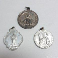 Antigüedades: LOTE DE MEDALLAS RELIGIOSAS. Lote 176556718