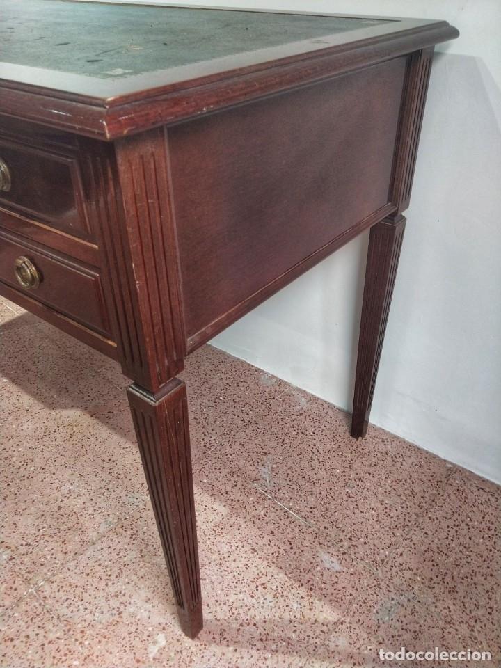 Antigüedades: Escritorio Bureau Plat en Roble Siglo XX - Foto 6 - 176561738