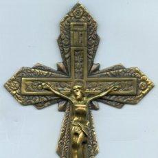 Antigüedades: CRUCIFIJO EN BRONCE.. Lote 176562988