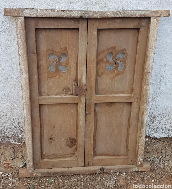Antigüedades: Antigua puerta de alacena lauburu - Foto 4 - 176591642