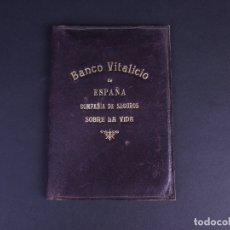 Antigüedades: CARPETA BANCO VITALICIO. Lote 176591859