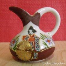 Antigüedades: JARRA JARRÓN CERÁMICA PINTADA A MANO - ESTILO ORIENTAL. Lote 176596523