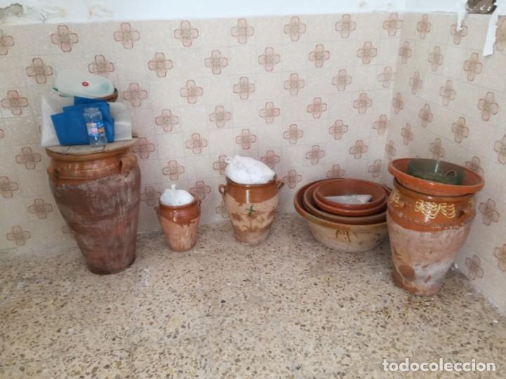Antigüedades: ORZA O TINAJA DE MATANZA VIDRIADA CON TAPA. - Foto 8 - 176604802