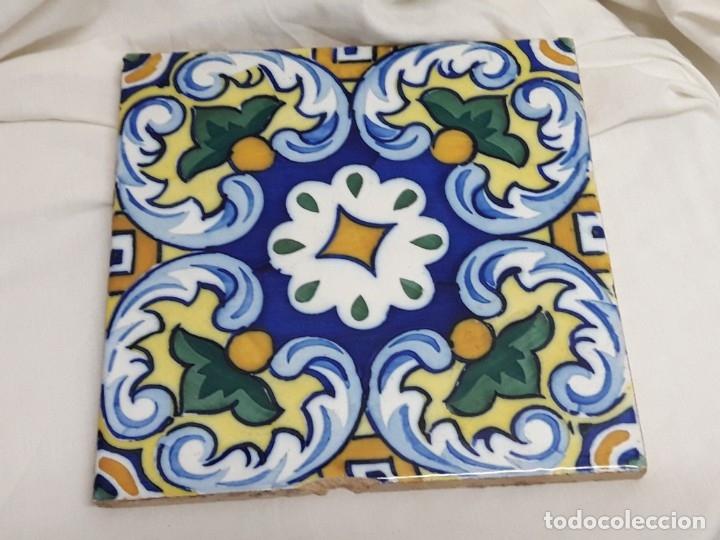 ANTIGUO AZULEJO BALDOSA (Antigüedades - Porcelanas y Cerámicas - Azulejos)
