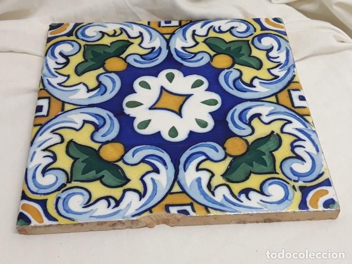 Antigüedades: Antiguo azulejo baldosa - Foto 2 - 176611077