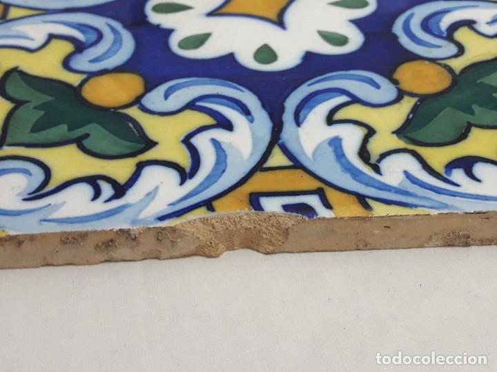 Antigüedades: Antiguo azulejo baldosa - Foto 3 - 176611077