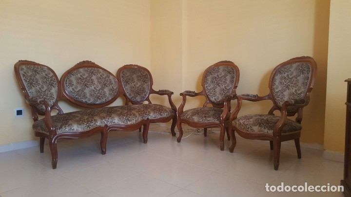 Antigüedades: Tresillo caoba - Foto 2 - 171370008