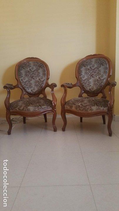 Antigüedades: Tresillo caoba - Foto 3 - 171370008