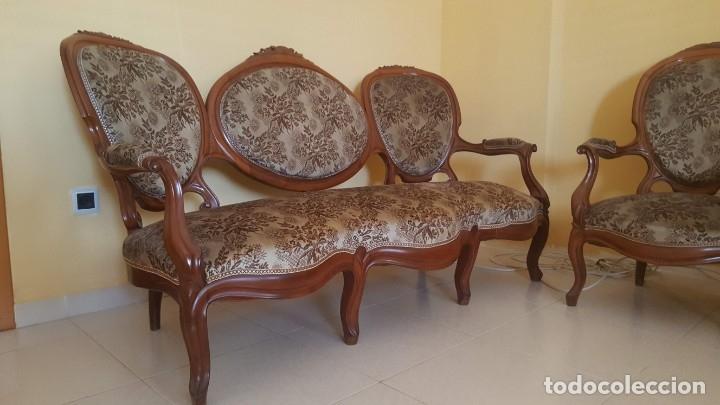 Antigüedades: Tresillo caoba - Foto 4 - 171370008