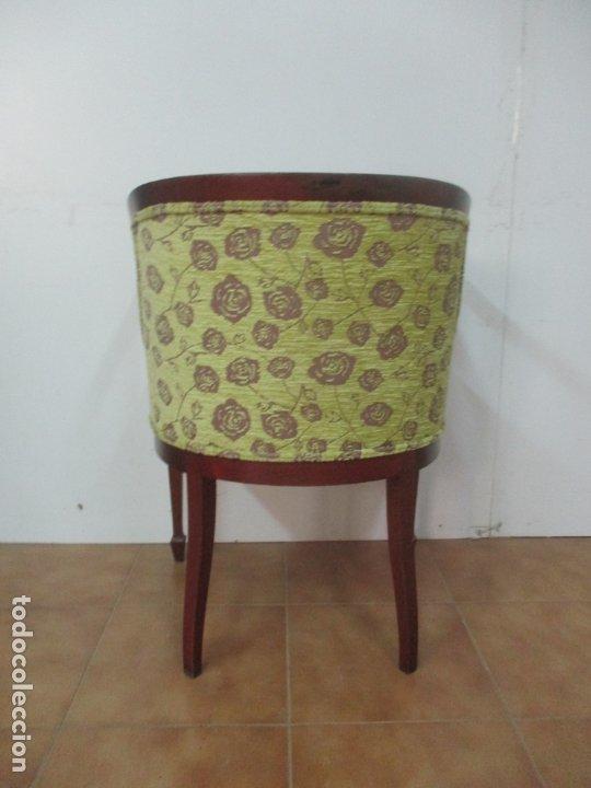 Antigüedades: Decorativo Sillón Calzador - Art Deco - Madera de Caoba - Tapicería Perfecta - Foto 8 - 176620368