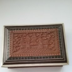 Antigüedades: CAJA JOYERO EN MADERA TALLADA Y MARQUETERIA, NO CONTIENE LLAVE .. Lote 176622440