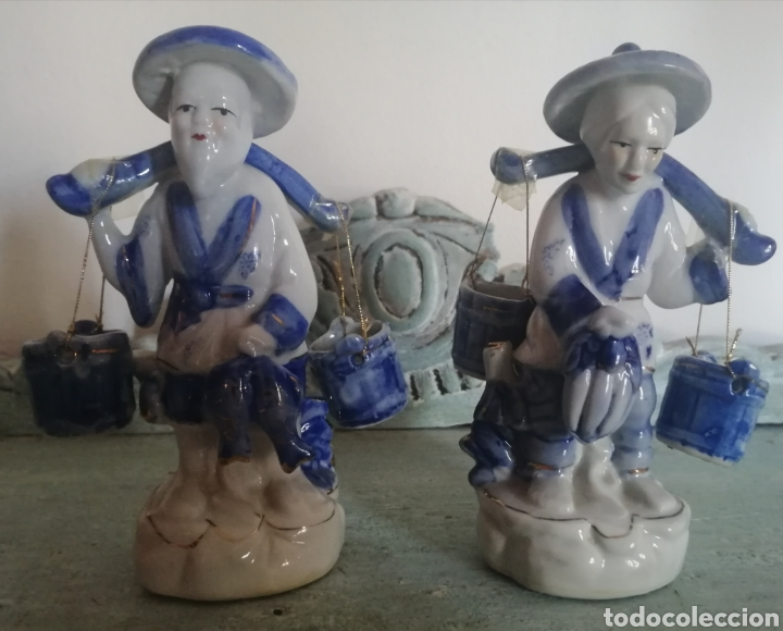 Antigüedades: Pareja figuras. Porcelana china - Foto 3 - 176638327