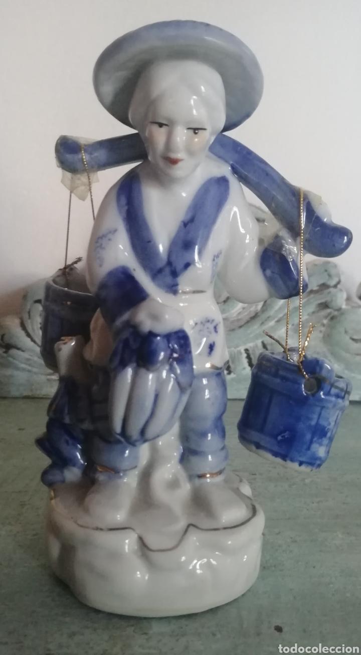 PAREJA FIGURAS. PORCELANA CHINA (Antigüedades - Porcelanas y Cerámicas - China)