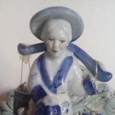 Antigüedades: PAREJA FIGURAS. PORCELANA CHINA. Lote 176638327