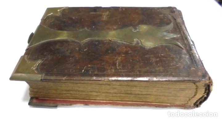 Antigüedades: ANTIGUO PORTAFOTO / ALBUM. CUERO CON EMBELLECEDORES Y CIERRE METALICO. PARA 52 FOTOS. LEER. VER - Foto 8 - 176644280
