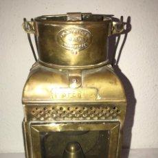 Antigüedades: FAROL DE BARCO EN BRONCE Y COBRE. Lote 176644755