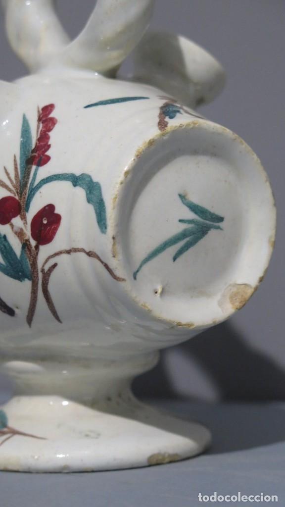 Antigüedades: BOTIJO DE CERAMICA DE BARRIL. CON REPRESENTACION BEATA INES. MANISES. SIGLO XIX - Foto 3 - 176645405