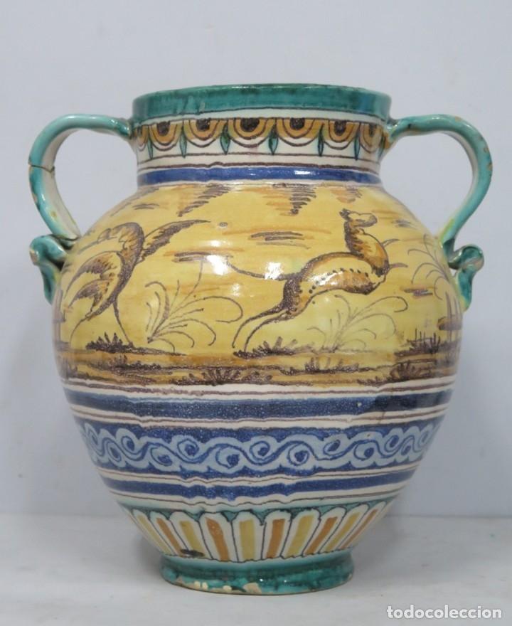 ANTIGUA ORZA DE CERAMICA. TRIANA. AÑOS 30 (Antigüedades - Porcelanas y Cerámicas - Triana)