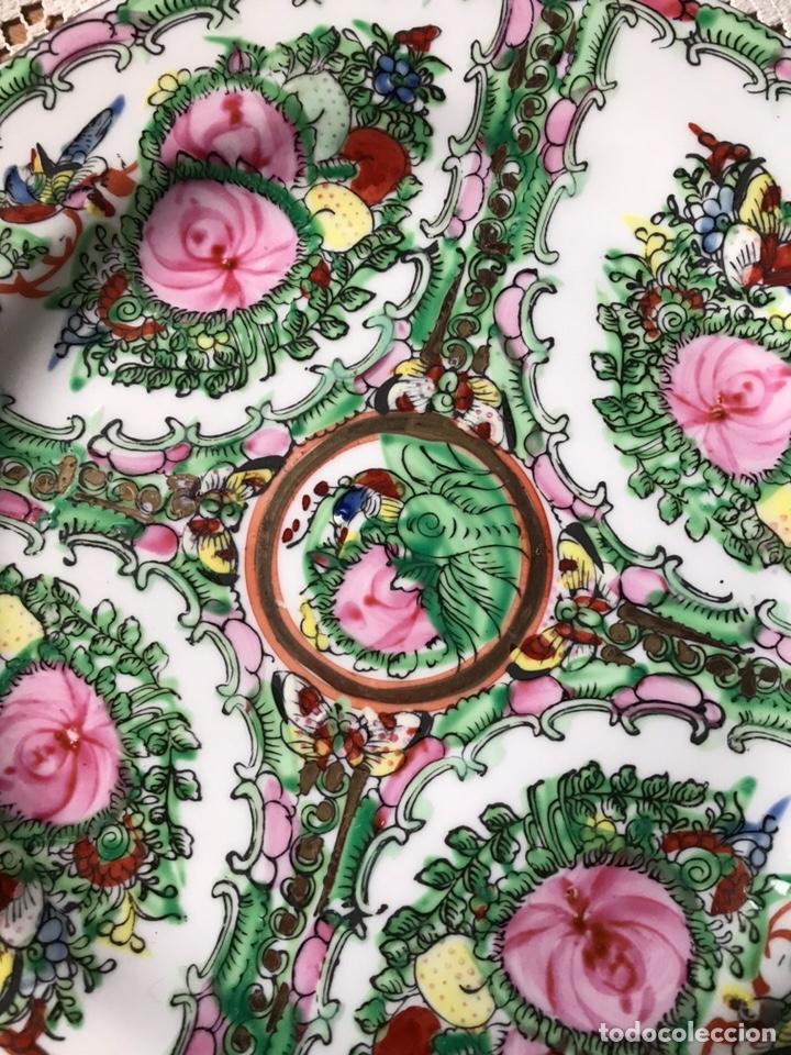 Antigüedades: Plato de porcelana China de Macao, sellado, vintage. - Foto 3 - 176647147