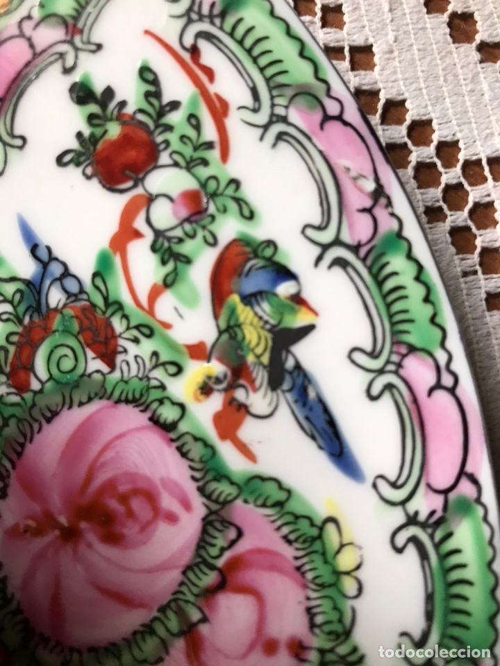 Antigüedades: Plato de porcelana China de Macao, sellado, vintage. - Foto 5 - 176647147