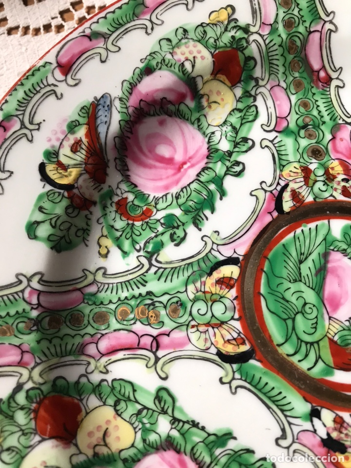 Antigüedades: Plato de porcelana China de Macao antiguo - Foto 3 - 176647337
