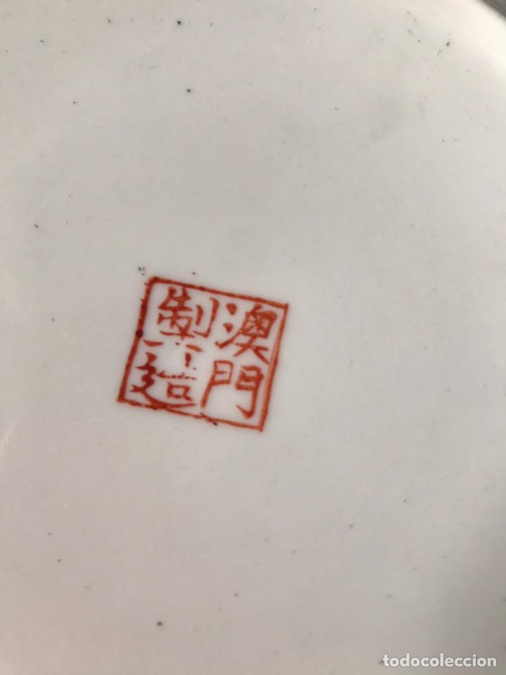 Antigüedades: Plato de porcelana China de Macao antiguo - Foto 5 - 176647337