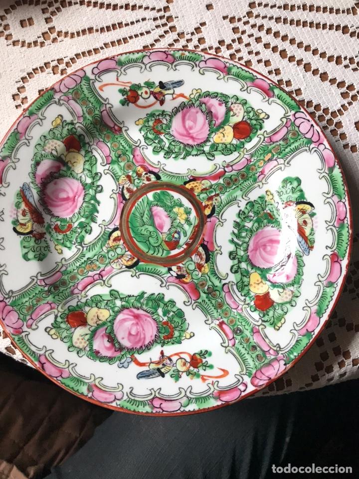PLATO DE PORCELANA CHINA DE MACAO ANTIGUO (Antigüedades - Porcelanas y Cerámicas - China)
