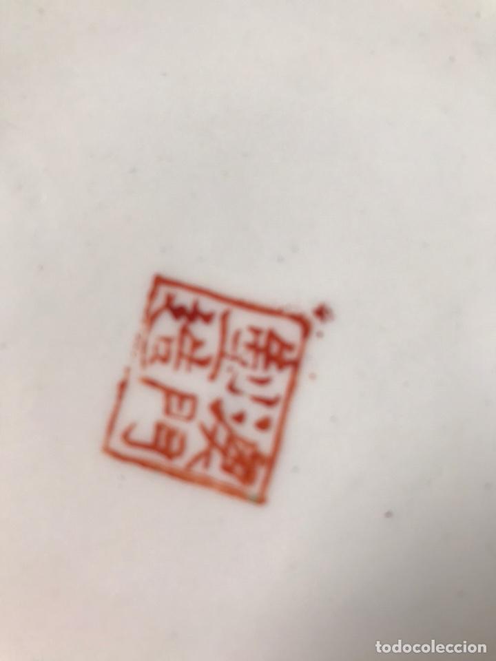 Antigüedades: Plato porcelana China de Macao, 20 cm diametro, pintado a mano, años 70. - Foto 9 - 176647437