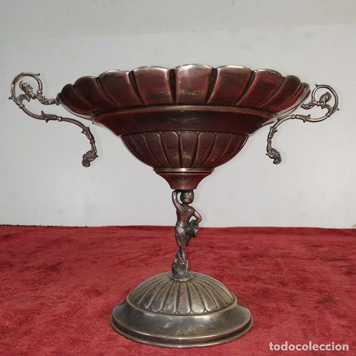 Antigüedades: CENTRO DE MESA. PLATA DE LEY. PUNZONADA. 915/1000. ESPAÑA. CIRCA 1930 - Foto 4 - 176666599