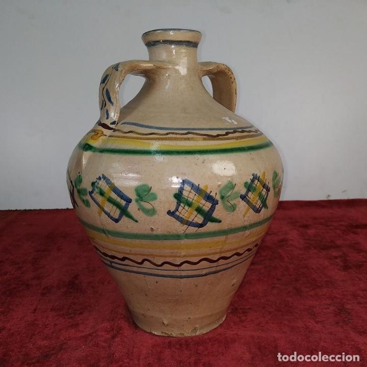 Antigüedades: JARRÓN DE DOS ASAS. CERÁMICA ESMALTADA. CATALUNYA. FIN SIGLO XIX - Foto 4 - 176673845