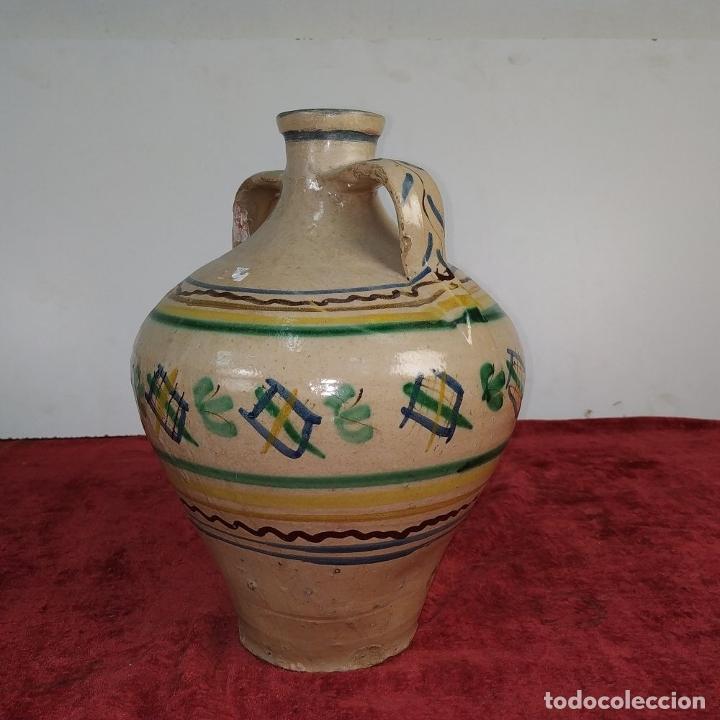 Antigüedades: JARRÓN DE DOS ASAS. CERÁMICA ESMALTADA. CATALUNYA. FIN SIGLO XIX - Foto 5 - 176673845