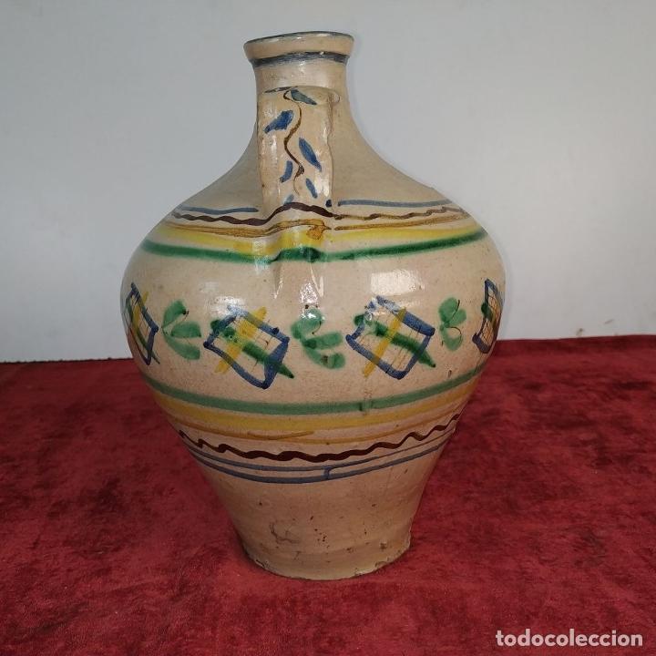 Antigüedades: JARRÓN DE DOS ASAS. CERÁMICA ESMALTADA. CATALUNYA. FIN SIGLO XIX - Foto 6 - 176673845