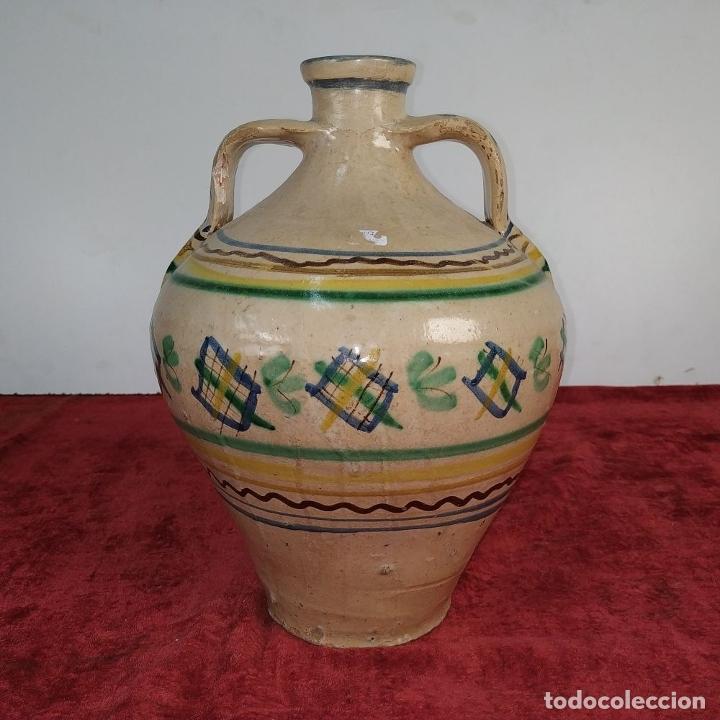 Antigüedades: JARRÓN DE DOS ASAS. CERÁMICA ESMALTADA. CATALUNYA. FIN SIGLO XIX - Foto 7 - 176673845