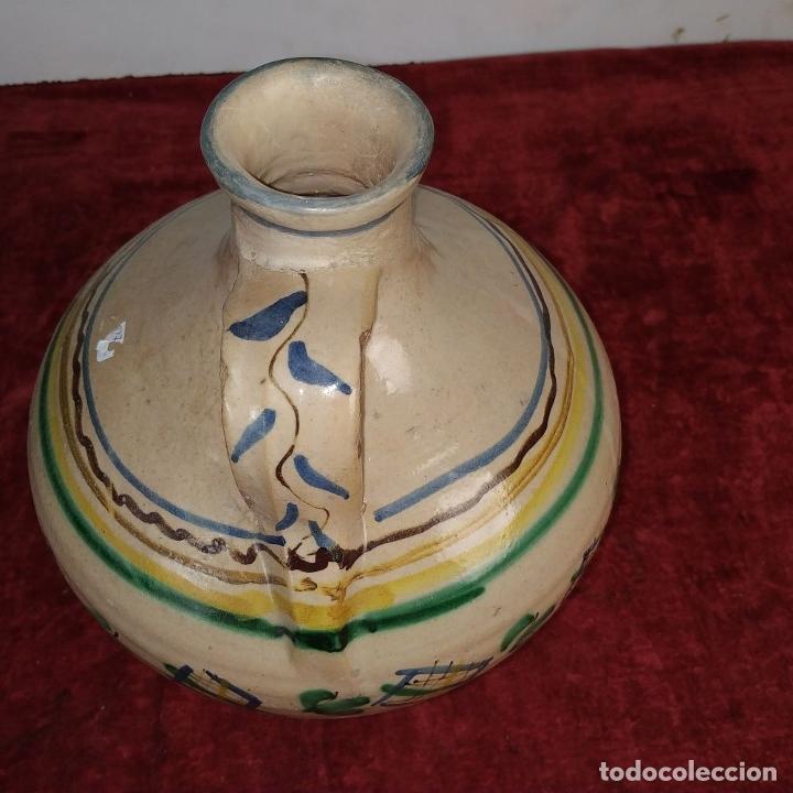 Antigüedades: JARRÓN DE DOS ASAS. CERÁMICA ESMALTADA. CATALUNYA. FIN SIGLO XIX - Foto 11 - 176673845