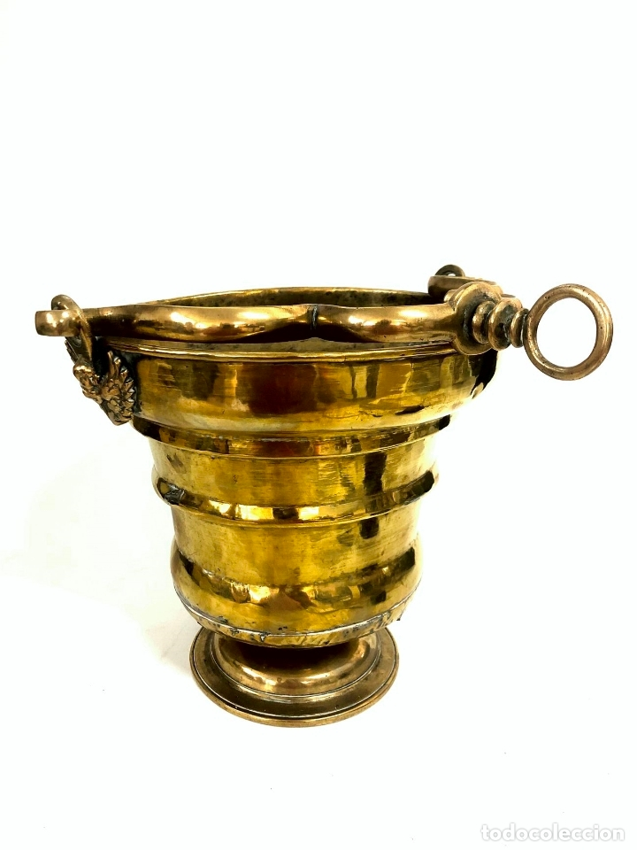 Antigüedades: GRAN ACETRE DE LATÓN - S. XVIII - BARROCO - Foto 3 - 176680149