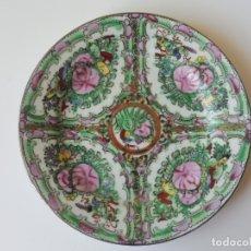 Antigüedades: PLATO PORCELANA DE MACAO FLORAL 20 CM. Lote 176684520