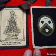 Antigüedades: GRAN ESCAPULARIO VOT DE ZARAGOZA IGLESIA DE SAN PABLO. Lote 176690022