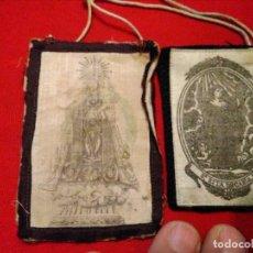 Antigüedades: ANTIGUO ESCAPULARIO VOT ZARAGOZA Y SANTA RITA DE CASIA. Lote 176692249