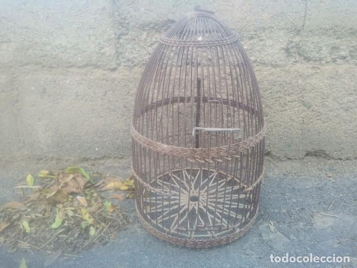 Antigüedades: Antigua jaula para perdices o palomas de alambre para caza reclamo - Foto 9 - 176706807